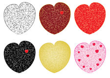 Set of valentines. Made of curves vector illustration Royalty Free Stock Image