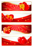 Set of Valentines Banners. Royalty Free Stock Photos