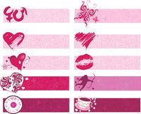 Set of valentines borders Royalty Free Stock Photography