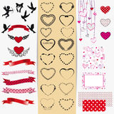 Set of Valentines day Royalty Free Stock Photo