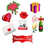 Set for Valentines Day. Illustration featuring a set of things concerning valentines day isolated on white background royalty free illustration