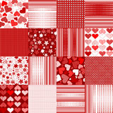 Set of Valentines Day backgrounds Royalty Free Stock Photography