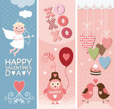 Set of Valentines Day  banners Royalty Free Stock Photo