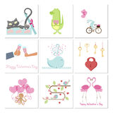 Set of Valentines day banners Royalty Free Stock Photography