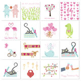 Set of Valentines day banners Royalty Free Stock Photos