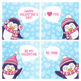 Set of Valentines day cards Royalty Free Stock Image