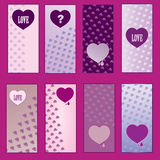 Set of Valentines Day cards Royalty Free Stock Photo