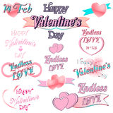 Set of  Valentines Day Decorative Elements Stock Photo