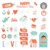 Set of Valentines day design holidays elements Stock Photography