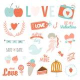 Set of Valentines day design holidays elements Stock Image