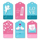 Set of Valentines Day gift tags typographic vector design Stock Photo