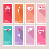 Set of Valentines day greeting cards Royalty Free Stock Photos