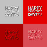 Set of Valentines day greeting cards Stock Photography