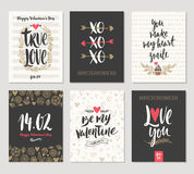 Set of Valentines Day greetings Stock Image