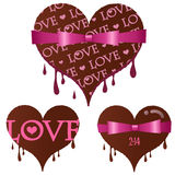 Set of Valentines day heart Chocolate Stock Photos