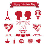 Set of Valentines day icons Royalty Free Stock Photos