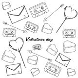 Set of Valentines Day icons Stock Photography