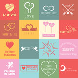 Set of valentines day logo Royalty Free Stock Photos