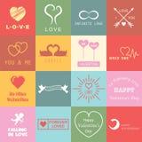 Set of valentines day logo Royalty Free Stock Photos