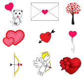 Set of Valentines Day Royalty Free Stock Photography