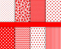 Set of Valentines Day seamless pattern background vector Royalty Free Stock Photos