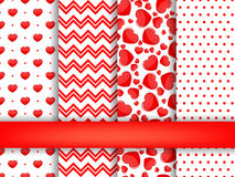 Set of Valentines Day seamless pattern background vector Stock Image