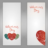 Set of Valentines day vector floral. Day, valentine, floral, love, background, card, design, heart, beautiful, vector, happy, romantic, wedding, abstract Royalty Free Stock Images