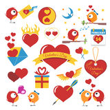 Set Of Valentines Day Stock Photography