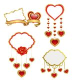 Set: Valentines design elements Stock Images