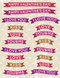 A set of valentines design, vector Stock Photography