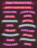 A set of valentines design, vector Stock Photos