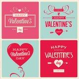 Set valentines dnia karciany projekt Zdjęcie Royalty Free