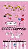 Set Valentines doodles - lots of cute design elements - Vector vector illustration
