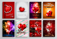 Set of Valentines Flyer Design, Invitation Cards Templates Royalty Free Stock Photos