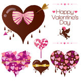 Set of valentines heart candy Royalty Free Stock Photos