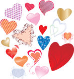 Set of valentines heart-shapes Stock Photography