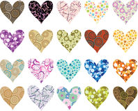 Set of valentines hearts Royalty Free Stock Photography