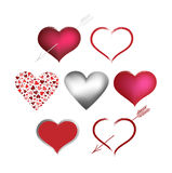 Set Valentines hearts Royalty Free Stock Images
