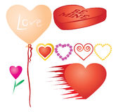 Set of valentines hearts, part 3 Royalty Free Stock Image