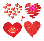 Set of valentines hearts, part 4 stock image