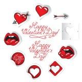 Set Valentinsgrüße Lizenzfreie Stockfotos