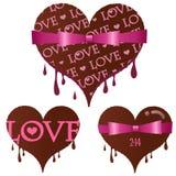 Set Valentinstaginneres Schokolade Stockfotos