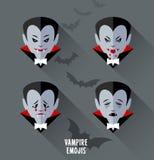 Set of vampire emojis royalty free illustration