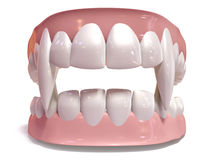Vampire False Teeth Set Isolated Royalty Free Stock Images