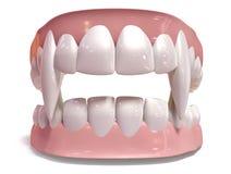 Vampire False Teeth Set Isolated Royalty Free Stock Images