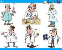 Set van tekens van het beeldverhaal de medische personeel Stock Afbeelding