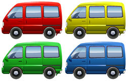 Set of vans Royalty Free Stock Images