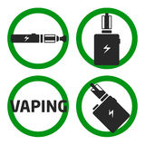 Set vaping icons Stock Photos