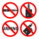 Set vaping icons Royalty Free Stock Photo