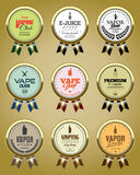 Set of Vapor Shop badges. Vapor Store and Shop badges collection Royalty Free Stock Photos